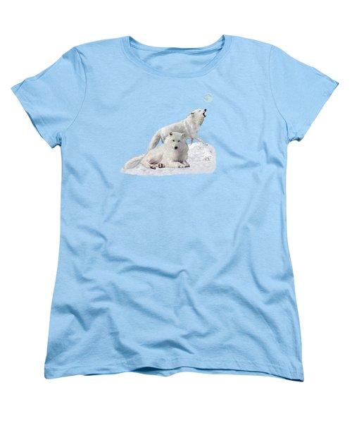 Snow Wolves Of The Wild Women's T-Shirt (Standard Cut) by Glenn Holbrook