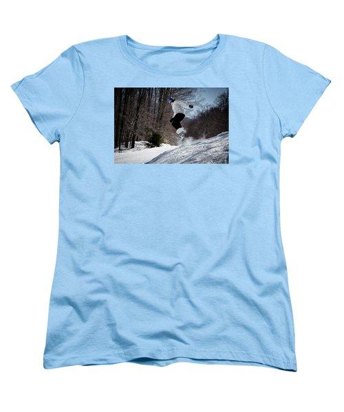 Women's T-Shirt (Standard Cut) featuring the photograph Snowboarding Mccauley Mountain by David Patterson