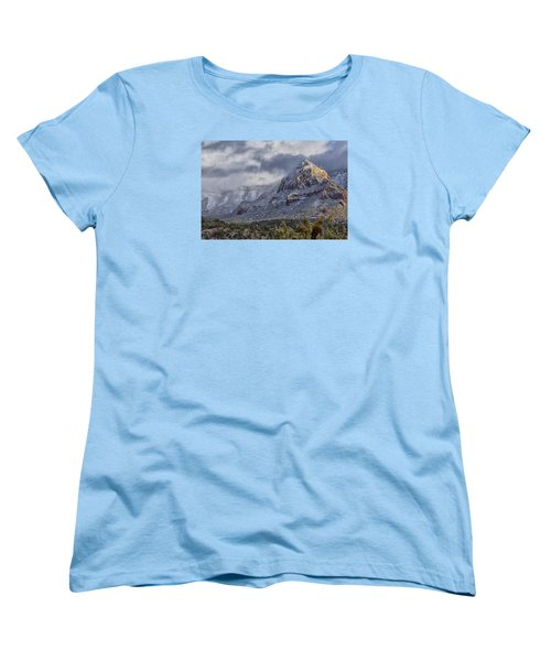 Women's T-Shirt (Standard Cut) featuring the photograph Snowbreak by Tom Kelly