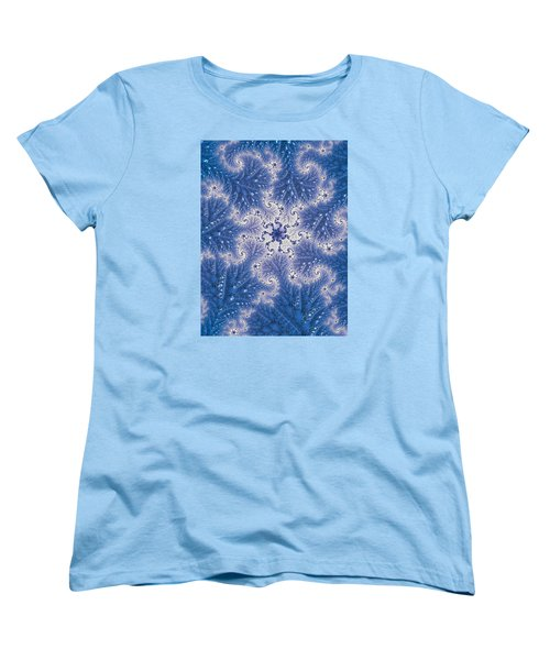 Women's T-Shirt (Standard Cut) featuring the photograph Snowflake Embroidered by Ronda Broatch