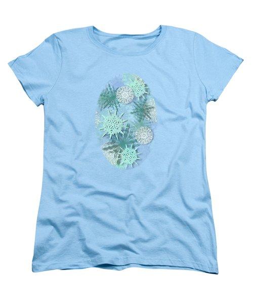 Snowflakes Women's T-Shirt (Standard Cut) by AugenWerk Susann Serfezi