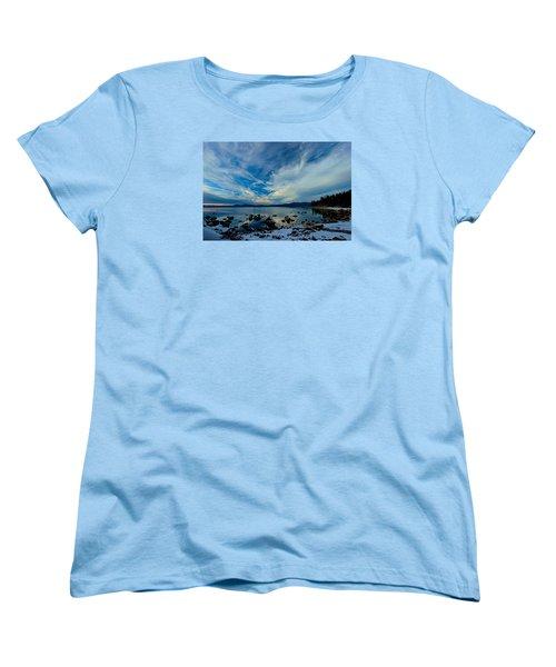 Snowgasm Women's T-Shirt (Standard Cut) by Sean Sarsfield