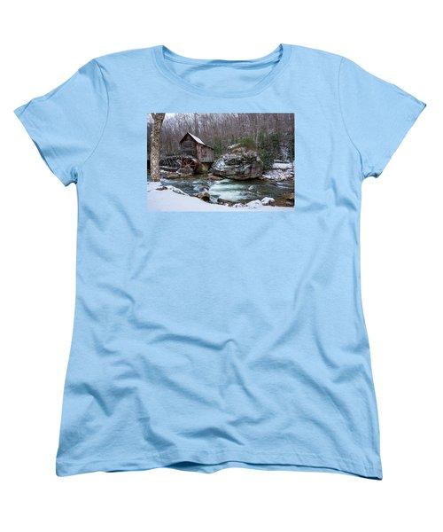 Snowing At The Mill  Women's T-Shirt (Standard Cut) by Steve Hurt