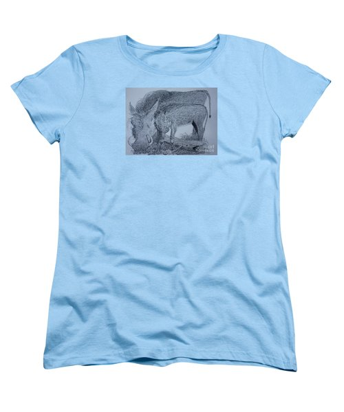 Snuggle Women's T-Shirt (Standard Cut) by David Joyner