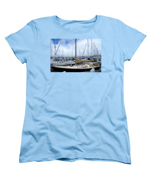 Women's T-Shirt (Standard Cut) featuring the photograph So Many Sailboats by Laura DAddona