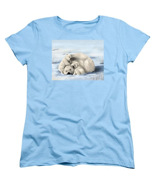 Women's T-Shirt (Standard Cut) featuring the painting So Much Love by Veronica Minozzi