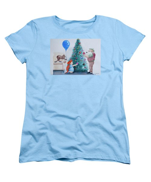 Women's T-Shirt (Standard Cut) featuring the painting So Pretty Grandpa by Geni Gorani