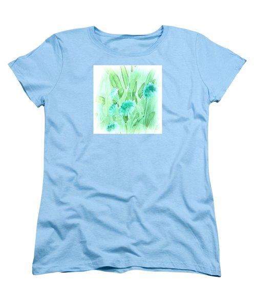 Soft Watercolor Floral Women's T-Shirt (Standard Cut) by Judy Palkimas