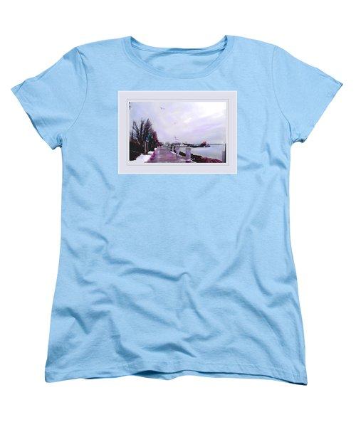 Soft Winter Day Women's T-Shirt (Standard Cut) by Felipe Adan Lerma