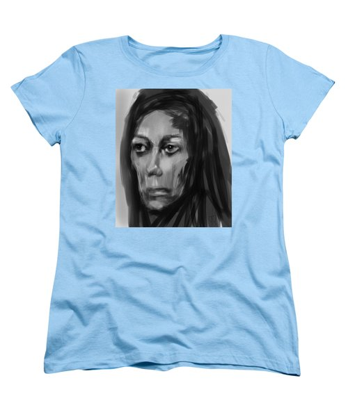 Women's T-Shirt (Standard Cut) featuring the painting Solemn by Jim Vance
