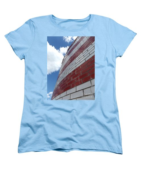 Solid Flag Blue Sky Women's T-Shirt (Standard Cut) by Erick Schmidt