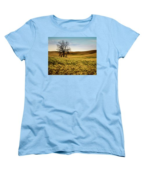 Women's T-Shirt (Standard Cut) featuring the photograph Solitary Tree by Chris McKenna