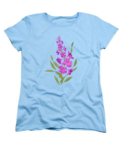 Solo Fireweed Shirt Image Women's T-Shirt (Standard Cut) by Teresa Ascone