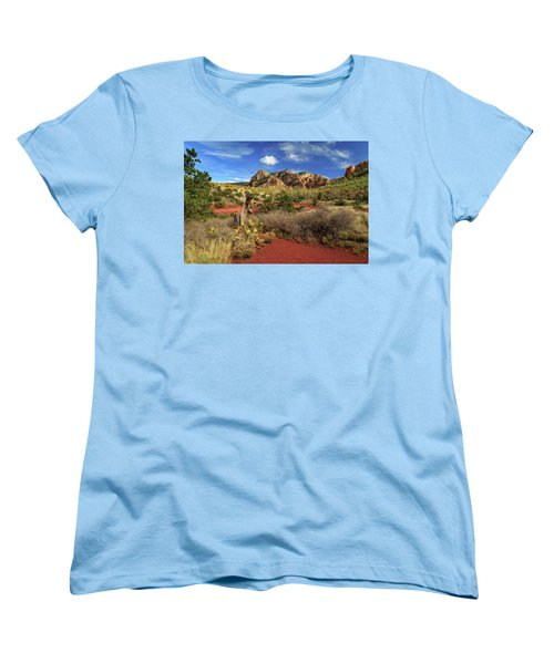 Women's T-Shirt (Standard Cut) featuring the photograph Some Cactus In Sedona by James Eddy