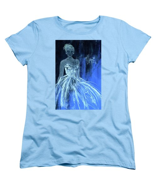 Women's T-Shirt (Standard Cut) featuring the painting Something Blue by P J Lewis