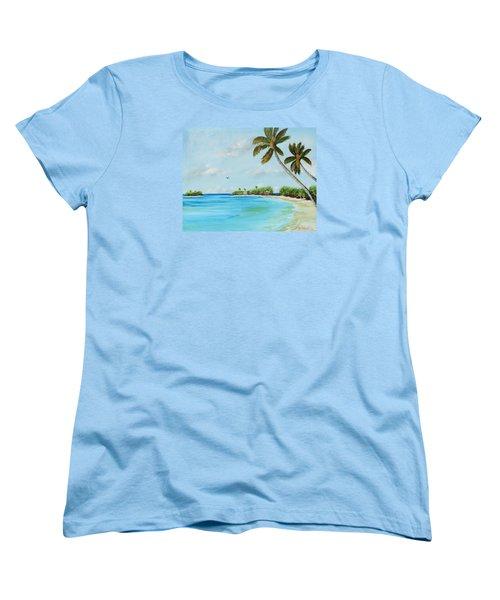 Somewhere In Paradise Women's T-Shirt (Standard Cut) by Lloyd Dobson