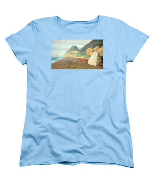 Women's T-Shirt (Standard Cut) featuring the painting Song For My Brother by Laurie Stewart
