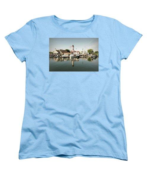 Sono Seaport Women's T-Shirt (Standard Cut) by Diana Angstadt