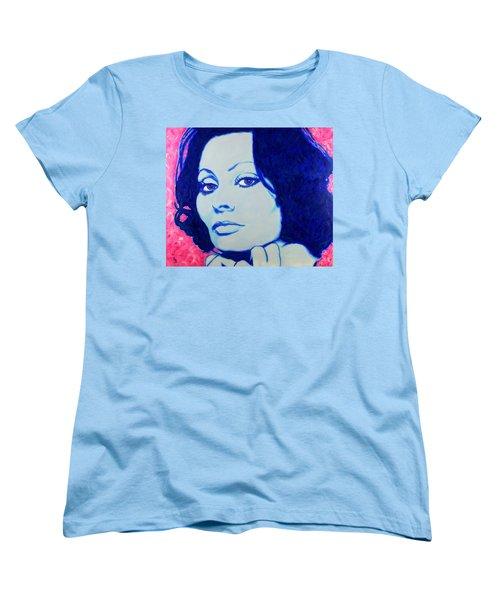 Sophia Loren Pop Art Portrait Women's T-Shirt (Standard Cut)