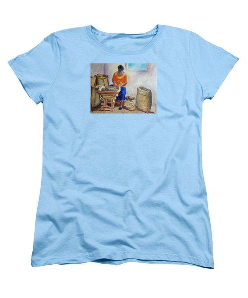 Sorting Nutmegs Women's T-Shirt (Standard Cut) by Laura Forde