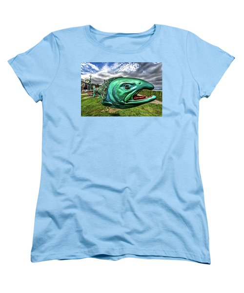 Soul Salmon In Hdr Women's T-Shirt (Standard Cut) by Rob Green