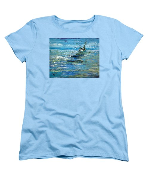 Women's T-Shirt (Standard Cut) featuring the painting Soups On by Suzanne McKee
