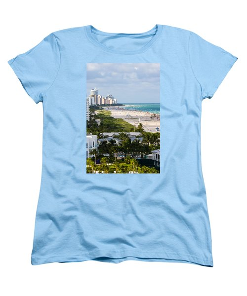 South Beach Late Afternoon Women's T-Shirt (Standard Cut) by Ed Gleichman