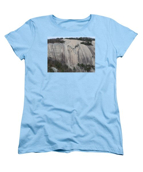 South Face - Stone Mountain Women's T-Shirt (Standard Cut) by Joel Deutsch