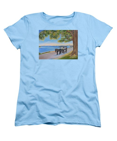 Women's T-Shirt (Standard Cut) featuring the painting Southport Stroll by Shelia Kempf