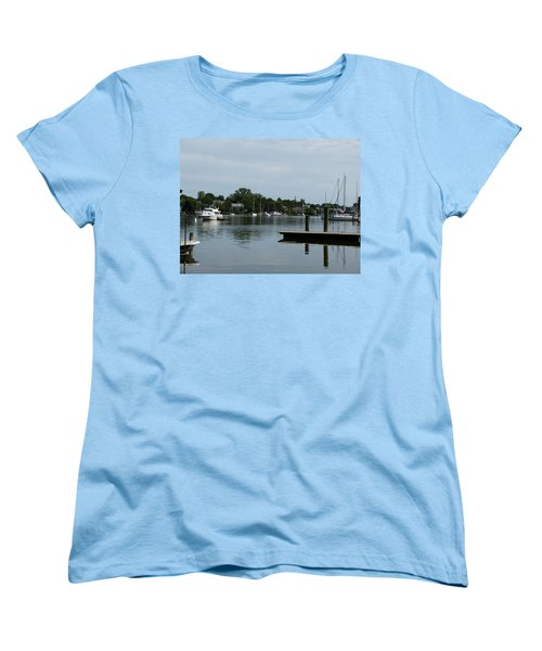Spa Creek From The Park  Women's T-Shirt (Standard Cut) by Donald C Morgan