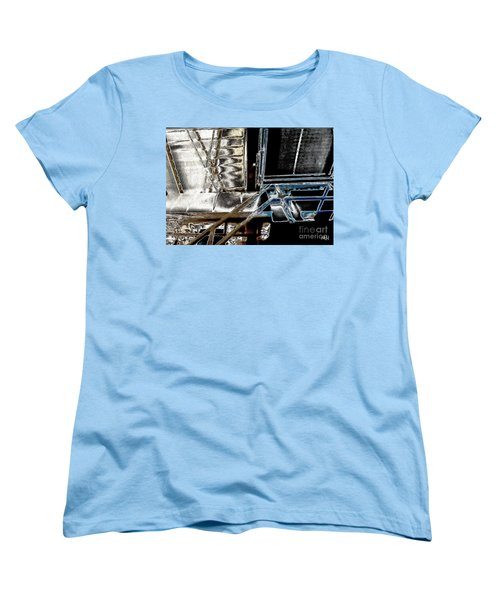 Women's T-Shirt (Standard Cut) featuring the digital art Space Station by Marsha Heiken