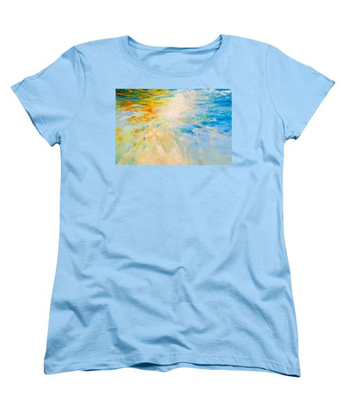 Women's T-Shirt (Standard Cut) featuring the painting Sparkle And Flow by Dina Dargo