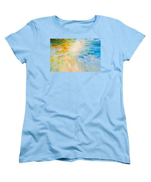 Sparkle And Flow Women's T-Shirt (Standard Cut) by Dina Dargo