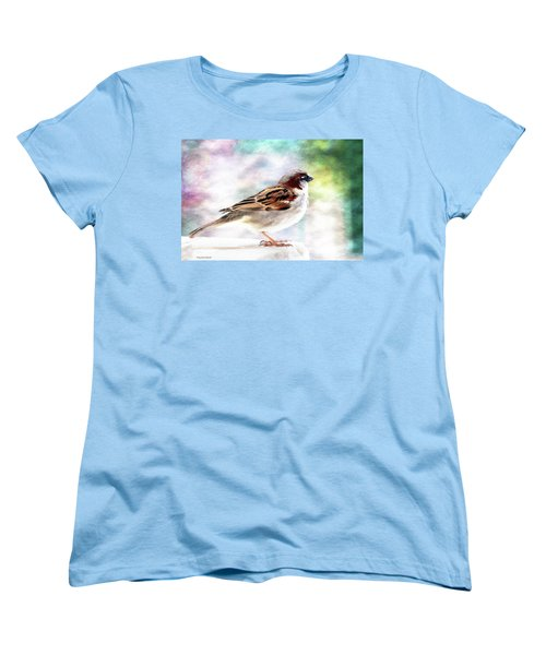 Sparrow Beauty 0004. Women's T-Shirt (Standard Cut) by Kevin Chippindall