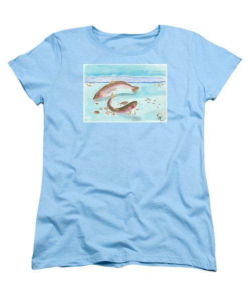 Spawning Rainbows Women's T-Shirt (Standard Cut) by Gareth Coombs