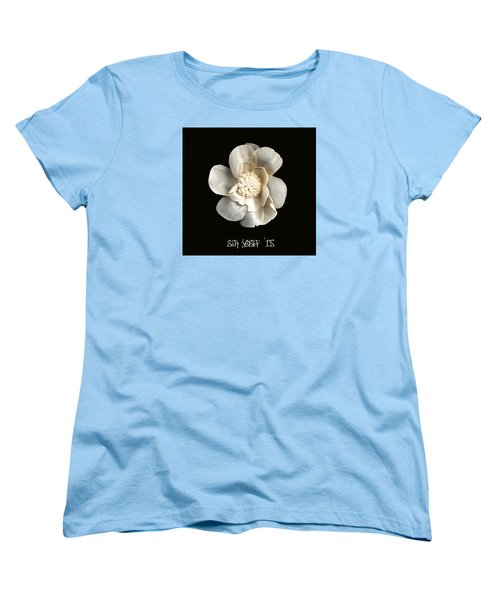 Special Magic Flower - For A Special Lady Women's T-Shirt (Standard Cut) by Sir Josef - Social Critic -  Maha Art
