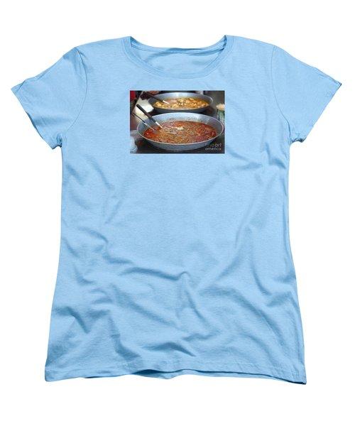 Spicy Duck Blood Soup Women's T-Shirt (Standard Cut) by Yali Shi