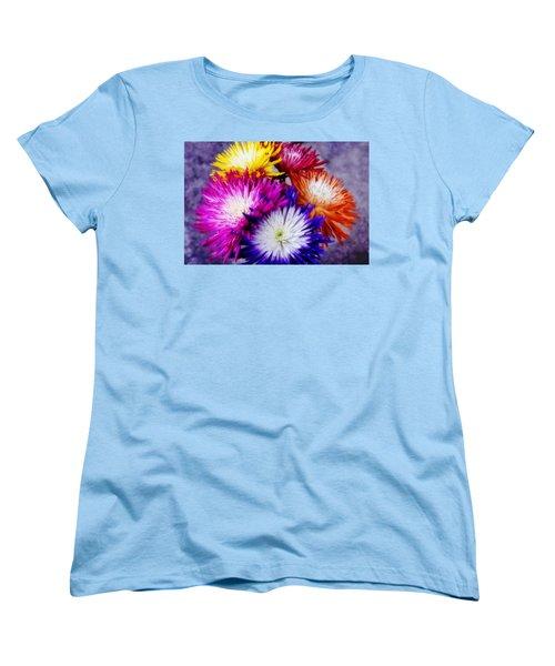 Spider Mums Women's T-Shirt (Standard Cut) by Joan Bertucci