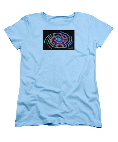 Spiral Spectrum No. 1 - Modern Art Women's T-Shirt (Standard Cut) by Merton Allen