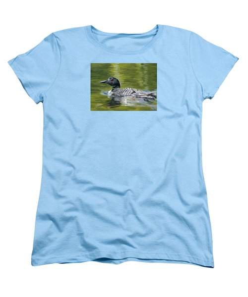 Women's T-Shirt (Standard Cut) featuring the painting Spirit Of The North by Lynne Reichhart