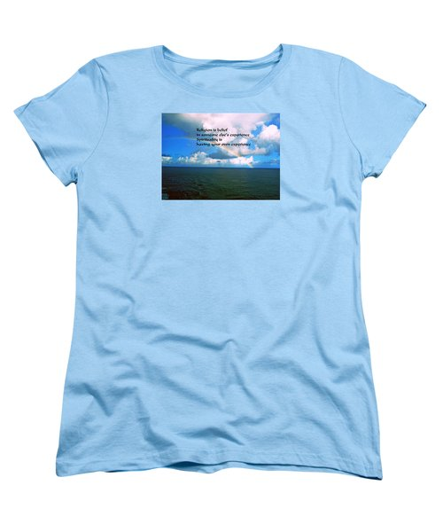 Women's T-Shirt (Standard Cut) featuring the photograph Spiritual Belief by Gary Wonning