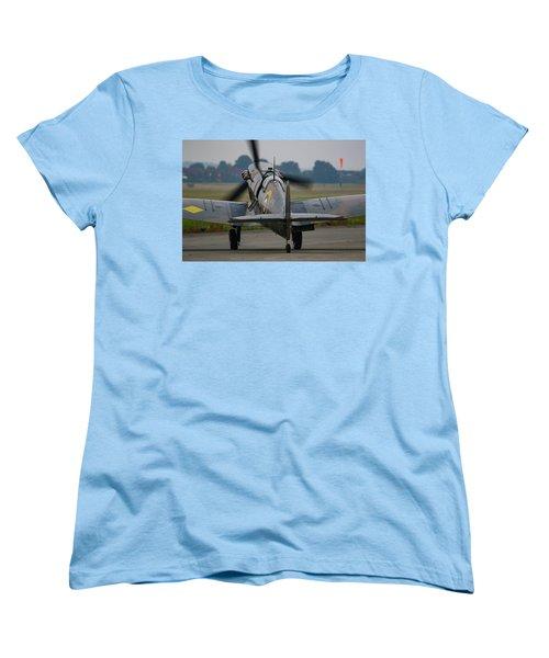 Spitfire Start Up Women's T-Shirt (Standard Cut) by Ken Brannen