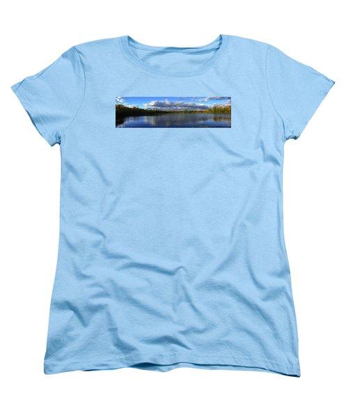 Splendid Autumn View Panoramic Women's T-Shirt (Standard Cut) by Brook Burling