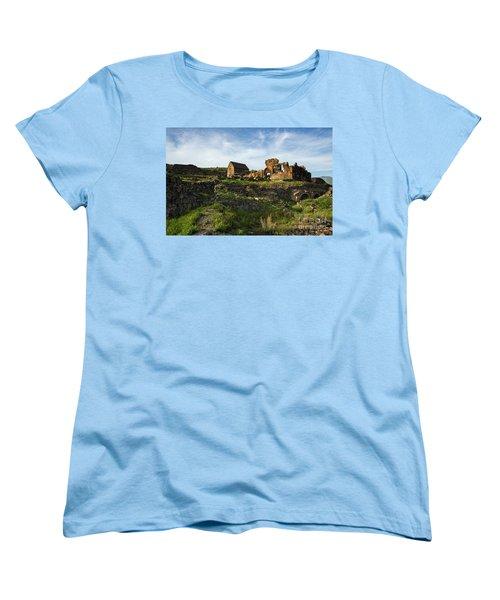 Splendid Ruins Of St. Sargis Monastery In Ushi, Armenia Women's T-Shirt (Standard Cut) by Gurgen Bakhshetsyan
