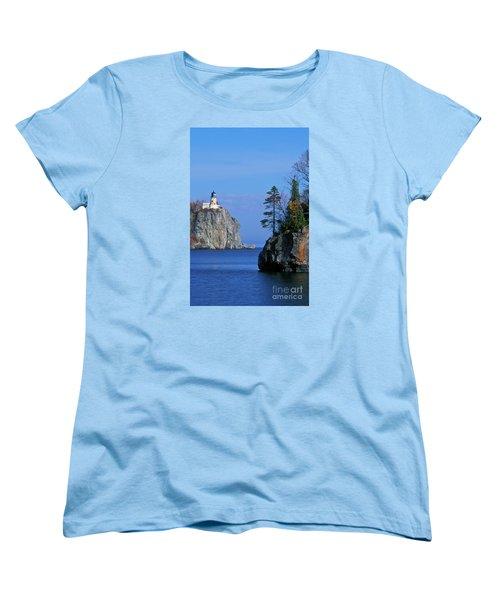 Split Rock Lighthouse - Fs000120 Women's T-Shirt (Standard Cut) by Daniel Dempster