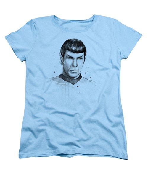 Spock Watercolor Portrait Women's T-Shirt (Standard Fit)