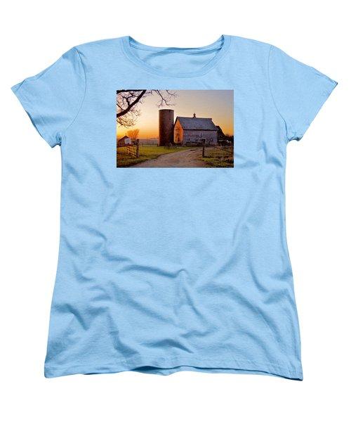 Spring At Birch Barn Women's T-Shirt (Standard Cut) by Bonfire Photography