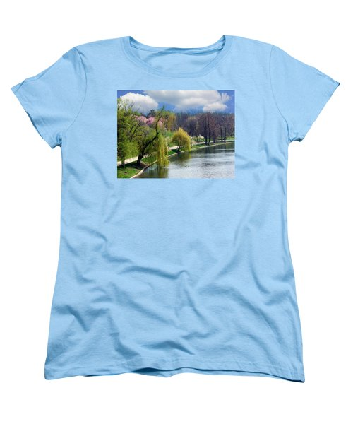 Spring At The Lake Women's T-Shirt (Standard Cut) by Judi Saunders