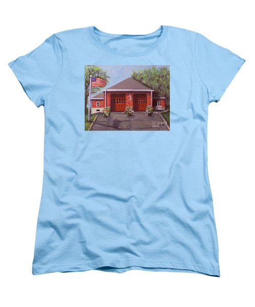 Spring Day At Willow Fire House Women's T-Shirt (Standard Cut) by Rita Brown