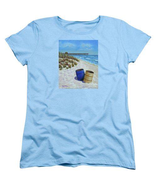 Spring Day On The Beach Women's T-Shirt (Standard Cut) by Val Miller